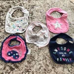 Carters Rosie Pope Baby Bibs Size OS Pink Blue